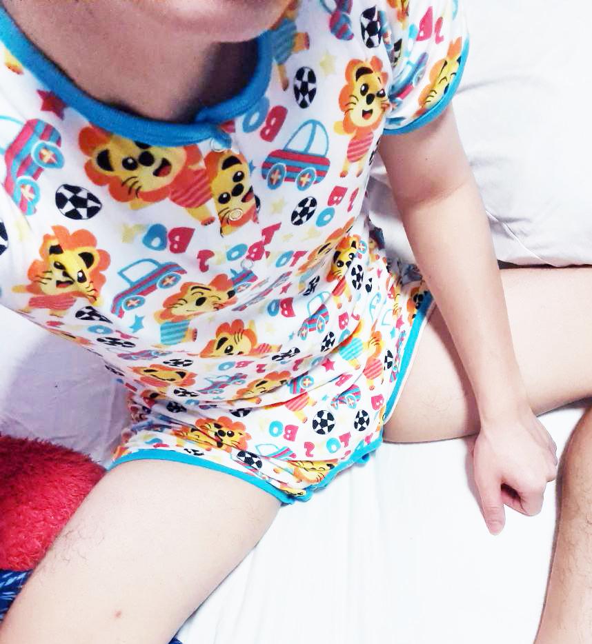 ABDL boy in diaper and romper